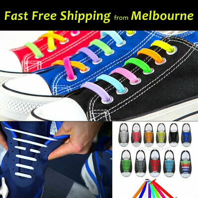 EasyLazy No Tie Elastic Silicone Shoe Laces Sneaker Runners Shoelaces Kids Adult