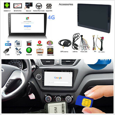 """10.1"""" Android 6.0 Quad-Core 2+32G WIFI + 4G LTE Car Stereo Radio GPS Navigation"""