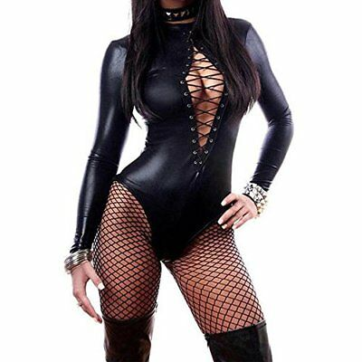 Nero XXXXX-Large WONDER BEAUTY Donna Pelle PVC Latex Tuta Sexy Erotico (zzj)