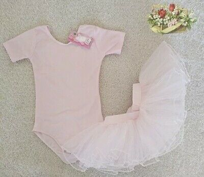 SALE Ballet Dance Leotard and Pink Tutu Set Ages 23456 years Fairy Dress Up UK