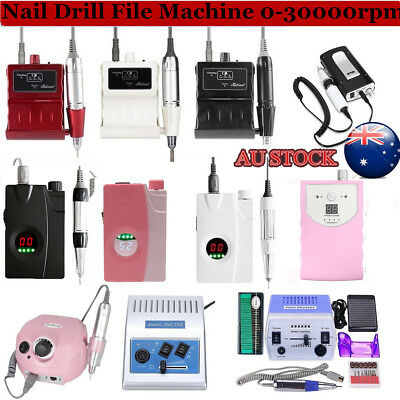 Pro Electric Nail Art Drill File Rechargeable Manicure Pedicure Machine Tool AU