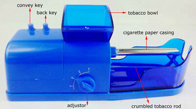 Easy Manual Cigarette Tobacco Smoking Roller Maker Rolling Machine Clear
