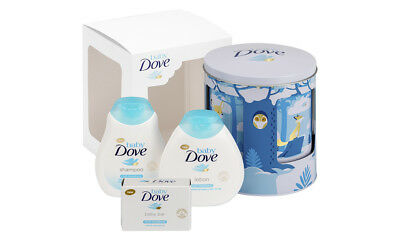 Baby Care Dove Moisturizing Lullaby Musical Tin Shampoo Bar & Lotion Gift Set