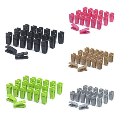 20 Pcs Plastic Clothes Pegs Hangers Racks Clothespins Laundry Clothes Pins