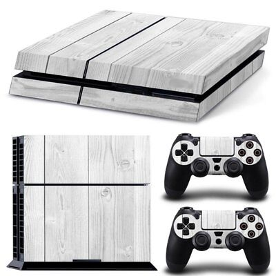 Vinyl Sticker Pattern Decals for PS4 Console & Controller Skin White Wood