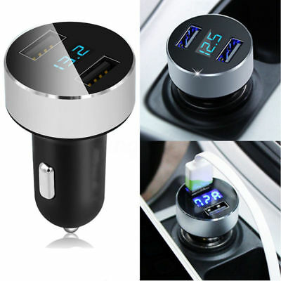 Car Charger 5V/3.1A Dual USB Port Cigarette Lighter Adapter Voltage Quick Charge