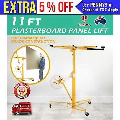 NEW 11ft Drywall Plasterboard Panel Lifter Gyprock 68kg Capacity 2 YEAR WARRANTY