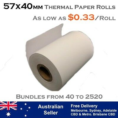 57x40 mm THERMAL RECEIPT PAPER ROLLS (As low as $0.33 per roll)