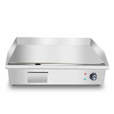 SOGA Electric Stainless Steel Flat Griddle Grill BBQ Hot Plate 3000W 56*48*23cm