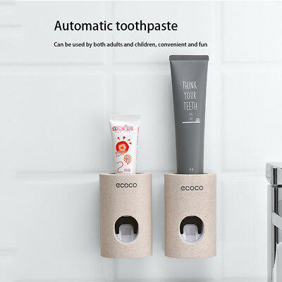 Automatic Toothpaste Squeezer Dispenser Mouthpiece Pressing Device Dust-proof