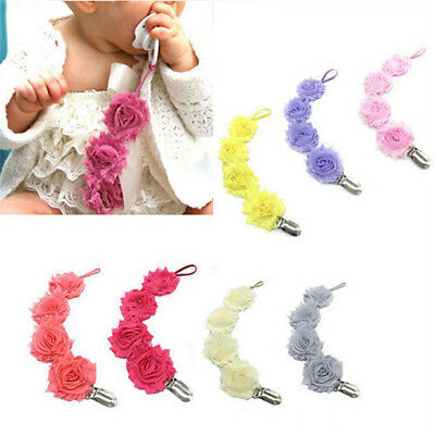 Safety Chewable Baby Dummy Pacifier Soother Nipple Chain Clip Buckle Holder N7