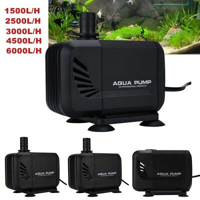 Aqua Submersible Aquarium Fountain Pond Waterfall Pump Fish Tank 1500-6000L/H UK