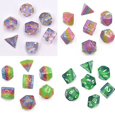 Polyhedral Dice Set DND Dice Stratified Multicolor Dice for Dungeons and Dragons