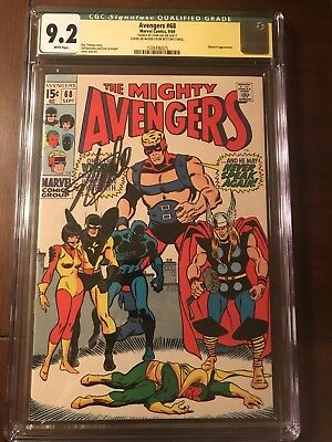 Avengers #68 Cgc 9.2 Ss Stan Lee !!! White Pages!!! Nice!!