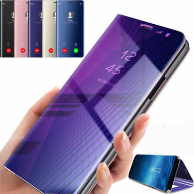 Smart Leather Flip Stand Case Cover Clear View Mirror for iPhone XR /XS Max