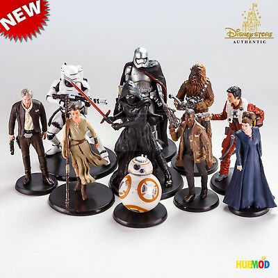New Loose Disney Star Wars Force Awakens Deluxe 10 Pc. Figure Figurine Playset
