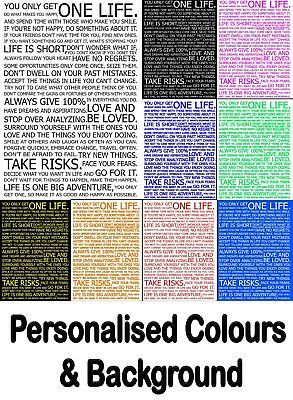 Custom Life Manifesto Print Poster Wall Art Gift Life Quotes Decor Personalised