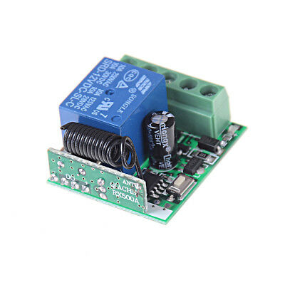 Universal RF 433Mhz Remote Control Switch 12V 1-Ch Relay Receiver Module_T