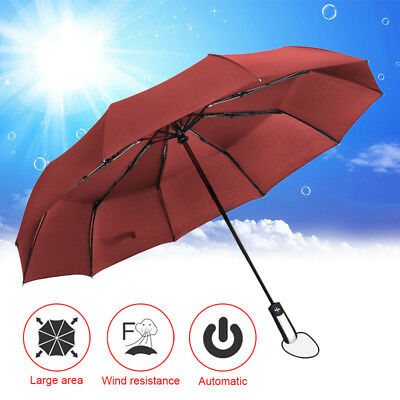 Wind Resistant Folding Automatic Umbrella Rain Big Rain Parasol Umbrella