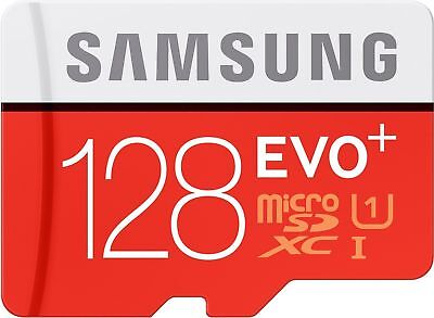 Samsung EVO plus 128GB Class 10 80MB/s Micro SD SDXC UHS-I Memory Card Adapter