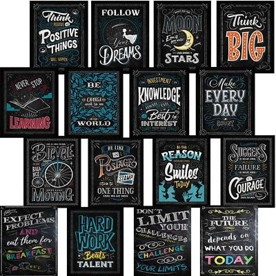 Motivational Classroom Wall Posters Inspirational Quotes for Students Teacher