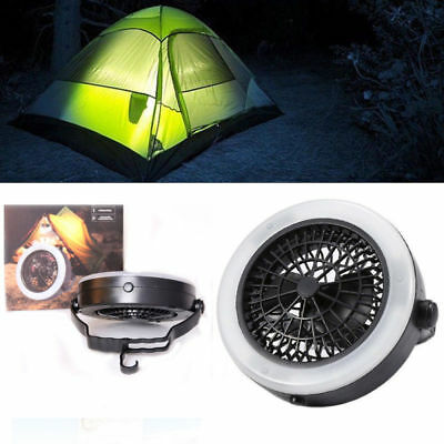 2 In 1 Portable Led Camping Lantern With Ceiling Fan Outdoors Tent Bright Light
