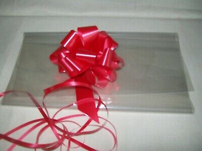 ❤ Medium Shrink Wrap Cellophane Hamper Bag Christmas Wedding *Free* Large Bow