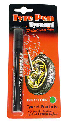Oxford Motorcycle  Liquid Tyre Art Paint Marker Pen Green TYPGR BC24622 T