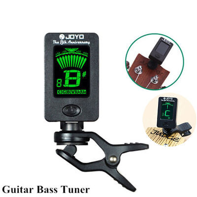 Hot Sale Clip On Chromatic Tuner Guitar Bass Banjo Ukulele Violin OUD Tuner CU