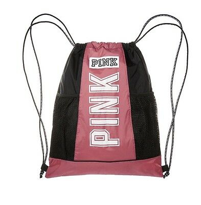 5dc23a4bfa NWT Victoria s Secret Pink BEGONIA Drawstring Backpack Bag Tote Duffle Gym  Logo