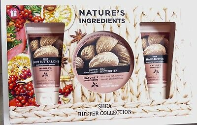 M&s Beauty Shea Body Butter Set Natures Ingredients Bnib