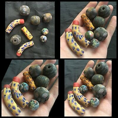 Ancient Authentic Romano - Egyptian Glass Beads  200 Ad No Reserve!