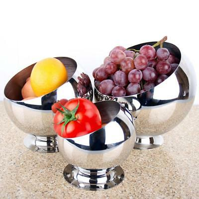 Large Stainless Steel Metal Bowl Salad snack Wine Beer Ice Bucket Punch Party UK
