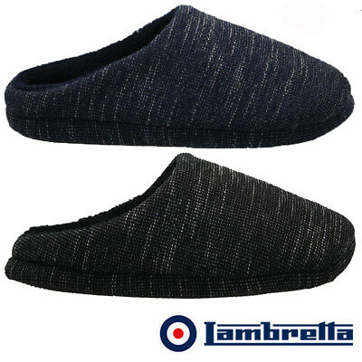 Mens Lambretta Slip Warm Fleece Lined Moccasins Slippers Winter Shoes Mules Size