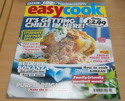 BBC Easy Cook magazine Sep 2018 Student Supper Special + How to cook Korean