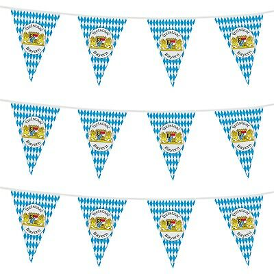 10M Oktoberfest German Beer Festival Bunting Freistaat Bayern Decoration Party