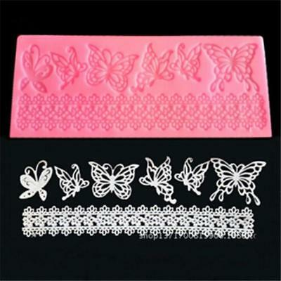 Silicone Butterfly Lace Chocolate Mold Fondant Mould Cake Decor Baking Tool LH