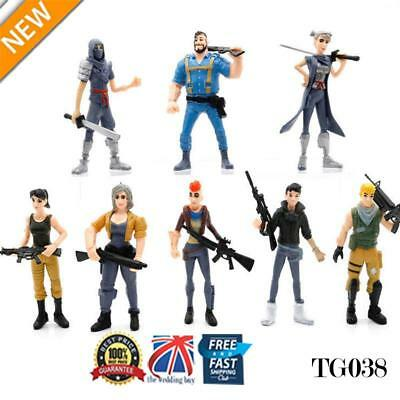 8 Pcs Fortnite Battle Game Royale Save The World Action Figures Toy Gift TG038
