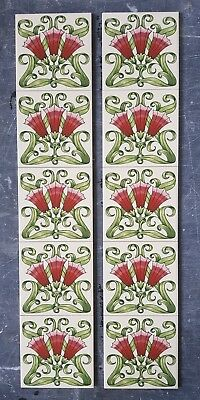 Victorian tiles Fireplace tiles, Minton Hollins Feature Ceramic Tile Panel