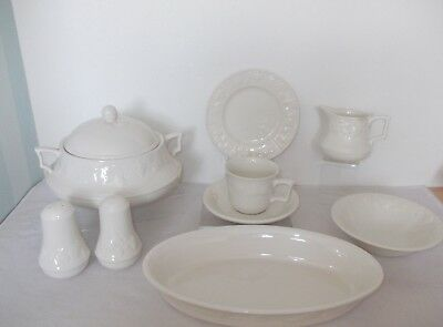 Barratts Bhs Replacement Lincoln White Fruit Embossed Tableware Various Options