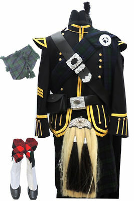 Pipe Band Uniform Outfits Schottische Pfeifer Military Doublet Jacket &...