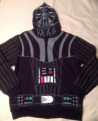 Star Wars Darth Vader Full-Zip Hoodie/sweatshirt Youth/boys Large  14-16 Nwt