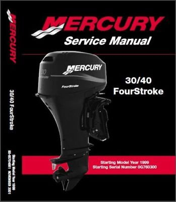 mercury outboard 25hp bigfoot 4 stroke oem service shop repair rh picclick com 40 HP Mercury Outboard Troubleshooting 1998 Mercury 25 HP Outboard Motor