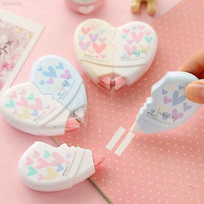 08E6 2pcs 2 In 1 Love Heart Correction Tape Belt Cute School Supplies Student