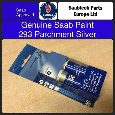 GENUINE SAAB Touch Up Paint. 293 Parchment Silver 12804997