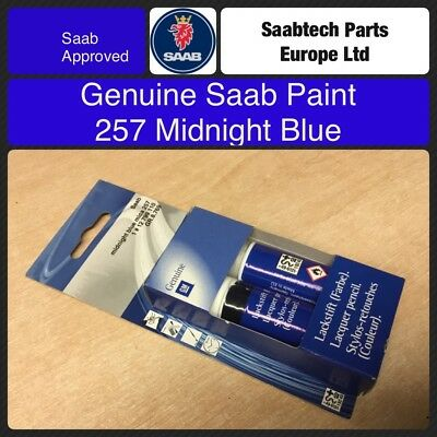GENUINE SAAB Touch Up Paint. 257 Midnight Blue 12799110