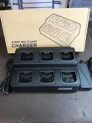Motorola CP-200 6 Bank Multi Charger, Gang and Bank Charger Aftermarket