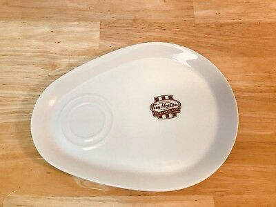 "Tim Horton's Coffee Canada SNACK PLATE DISH 8""x11"" Steelite - Made In England"
