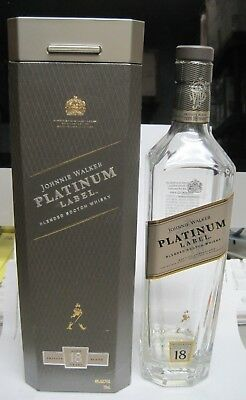 Johnnie Walker Platinum Label  Scotch Whiskey Bottle 750ML With Box Exc Cond