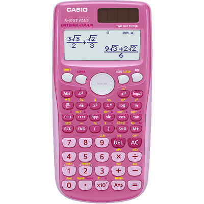 Casio FX-85GT Plus Scientific Calculator 260 Functions PINK